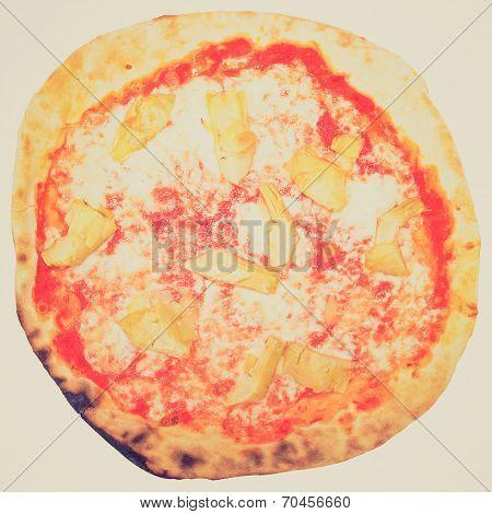 Retro Look Artichoke Pizza