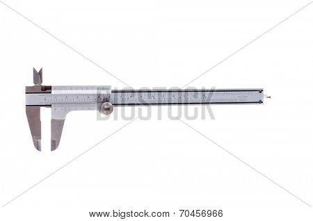 Stainless steel vernier caliper isolated on white background