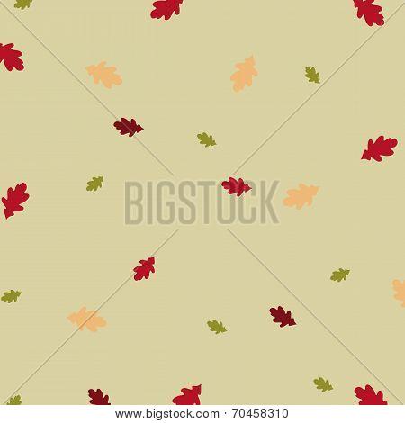 The Pattern Of Oak Leaves.