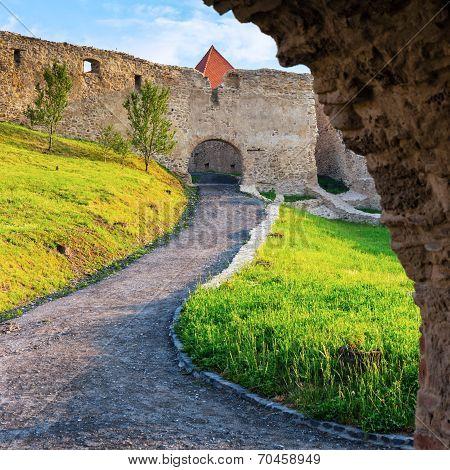 Rupea Castle Near Brasov, Medieval Fortress