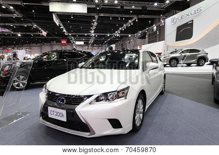 Bangkok - August 19: Lexus Ct200H Car On Display At Big Motor Sale On August, 2014 In Bangkok, Thail