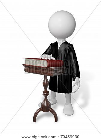 Man At A Table With A Book