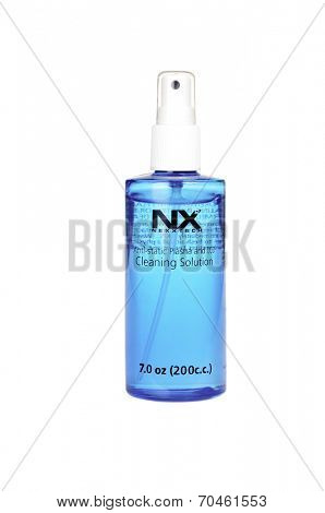 Hayward, CA - July 30, 2014: 7 oz bottle of NX Nextech Anti-static Plasma and LCD cleaning solution