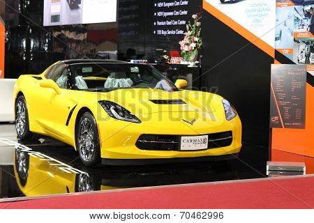 Bangkok - August 19: Corvette Stingray Coupe 2Lt Car On Display At Big Motor Sale On August, 2014 In