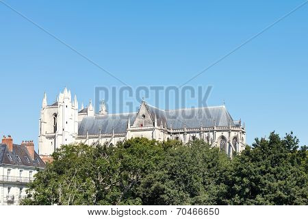View Of Nantes Cathedral, France