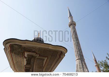 portico and minarets of Aya Sofya