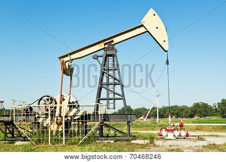 Oil Extraction By Pumpjack In Caucasus Region