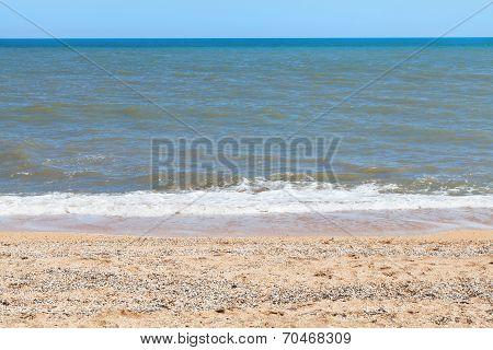 Sea Of Azov Coastline On Taman Peninsula