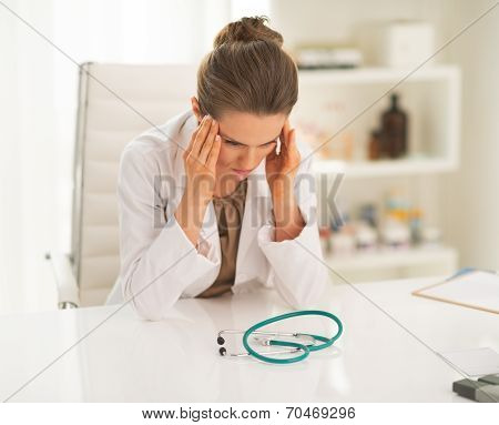 Frustrated Doctor Woman In Office