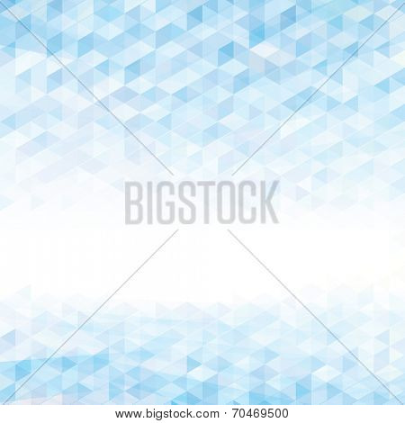 Abstract perspective geometric light blue background. Raster.