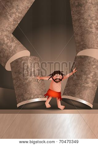 Samsons Death Illustration