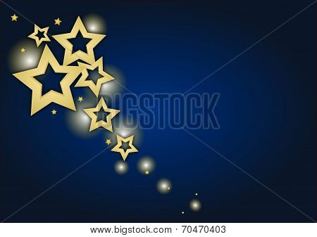 Christmas Background With Stars