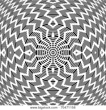 Abstract op art pattern. Vector art.