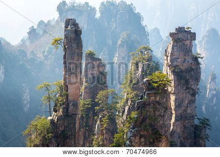 Zhangjiajie National forest park at Wulingyuan Hunan China