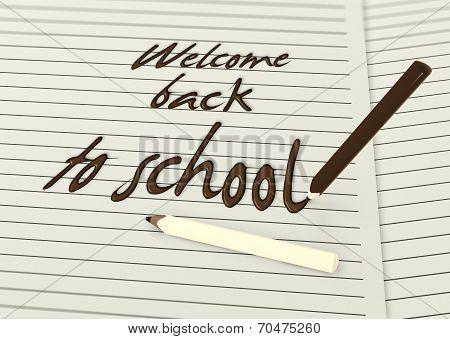 Welcome Back To School By Chocolate Pencils Paper