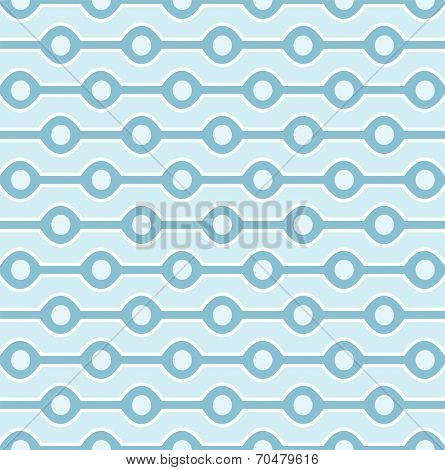 Seamless blue circles background pattern