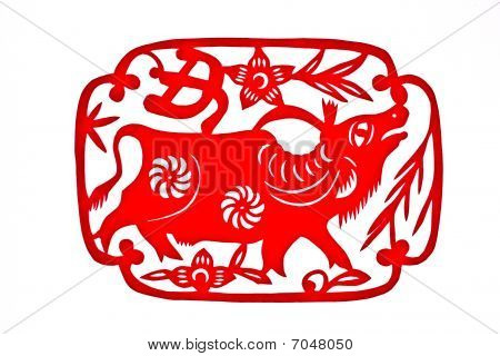 China's most popular folk tradition of decorative arts, paper cutting