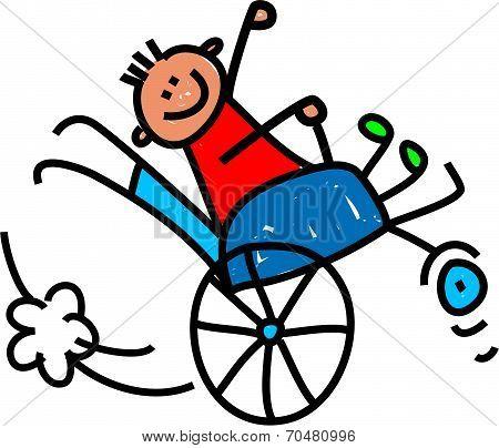 Disabled Wheely Boy