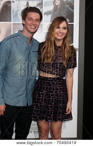 LOS ANGELES - AUG 20:  Patrick Schwarzenegger, Liana Liberato at the