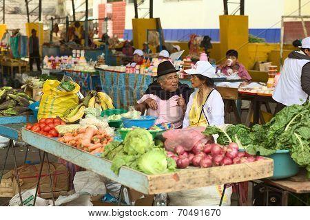 Market in Banos, Ecuador