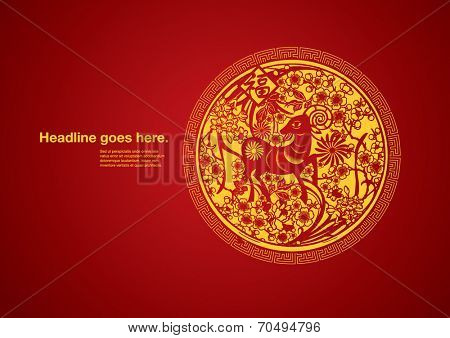vector of abstract paper-cut festive element