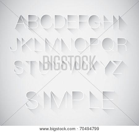 vector of abstract long shadow typography