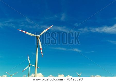 wind turbine of a wind power plant. obtaining alternative and sustainable energy for power generation