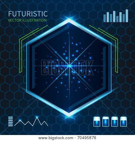 Futuristic vector illustration