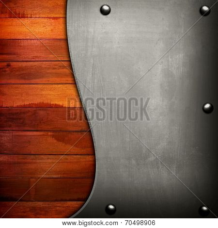 metal with wood plank