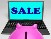 picture of slash  - Sale Laptop Showing Web Price Slashed And Bargains - JPG