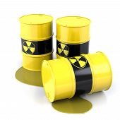 picture of radium  - Radioactive Barrels - JPG