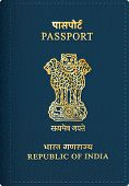 foto of passport cover  - vector Indian passport cover - JPG