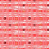 picture of cross-hatch  - Vintage striped seamless pattern with crossing brushed lines and small random dots in multiple bright colors  - JPG