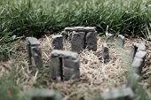 stock photo of stonehenge  - Mini replica of Stonehenge erected in my back yard - JPG