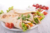 stock photo of sandwich wrap  - sandwich wrap - JPG