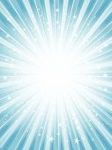 foto of starburst  - Abstract starburst background in shades of blue - JPG