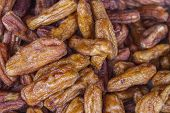 stock photo of oblong  - Some varieties of whole Dried Bananas from Thailand are very dark wide uniformly - JPG