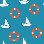 stock photo of lifeline  - yacht seamless pattern - JPG