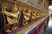picture of garuda  - Golden Garuda At Wat Phra Kaew,temple Of The Emerald, Bangkok, Thailand ** Note: Shallow depth of field - JPG