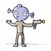 stock photo of spaceman  - cartoon alien spaceman - JPG