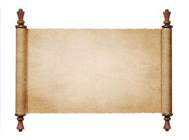 foto of scroll  - Vintage blank paper scroll isolated on white background with copy space - JPG