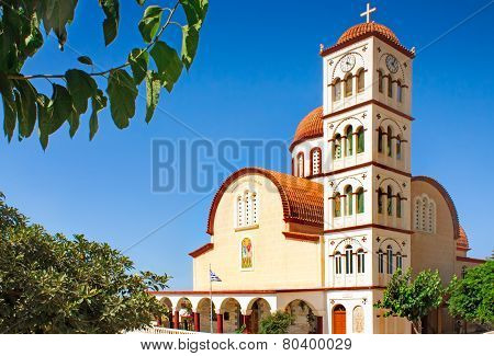 Orthodox Church In The Town Of Rethymno, Crete, Greece.
