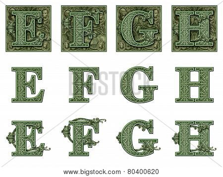 Money Alphabet E To H
