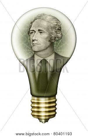 Alexander Hamilton Money Bulb