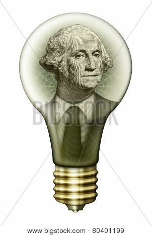 Geaorge Washington Money Bulb