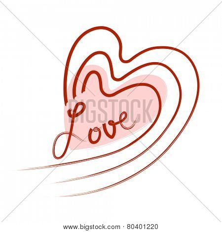Vector Freehand Heart Design with Text