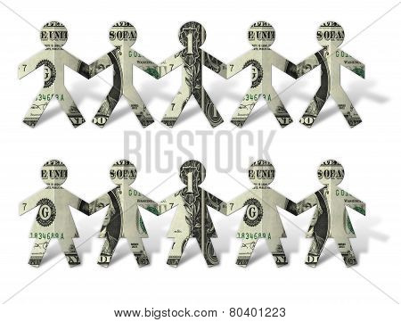 Dollar Cut Outs