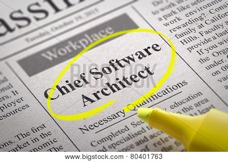 Chief Software Architect Vacancy in Newspaper.