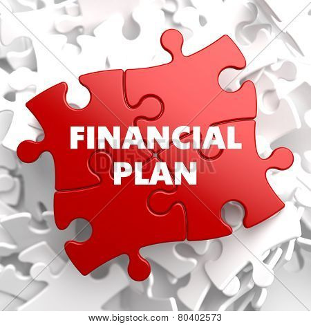Financial Plan on Red Puzzle.