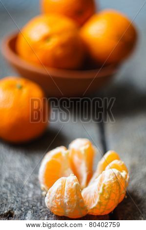 Ripe Tangerine Fruits